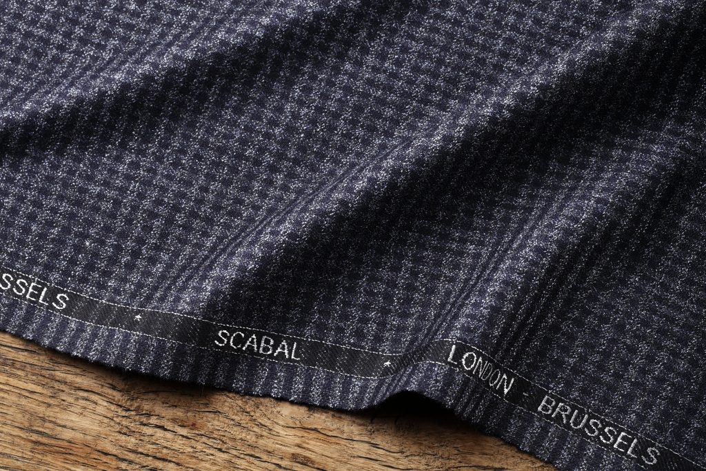 703965 SCABAL Grey Striped Superfine Merino Wool Suit Fabric 260g